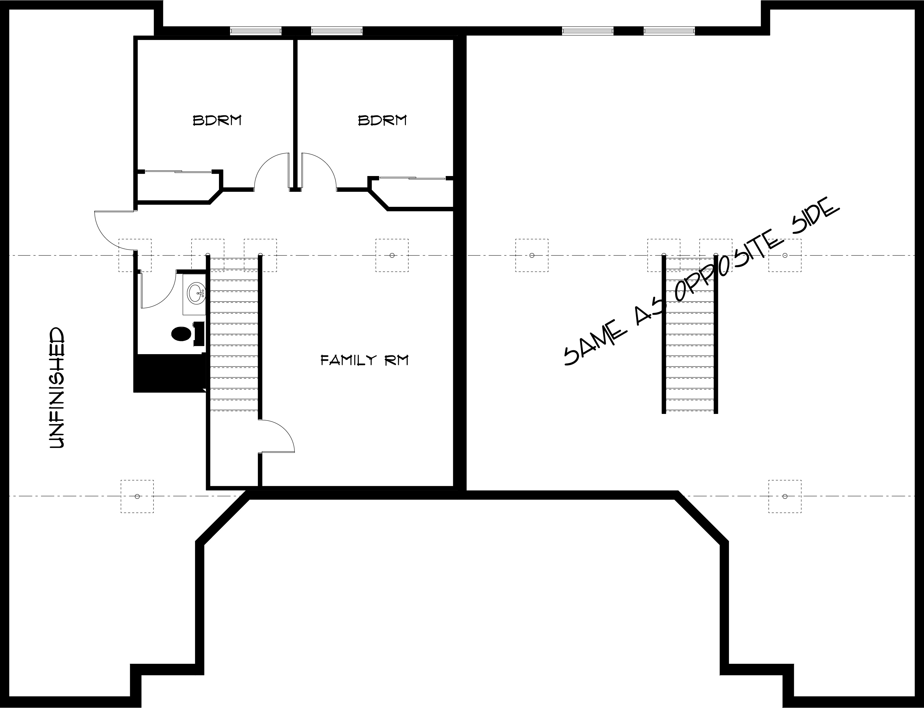 1309 Pinecrest Basement Floor Plan