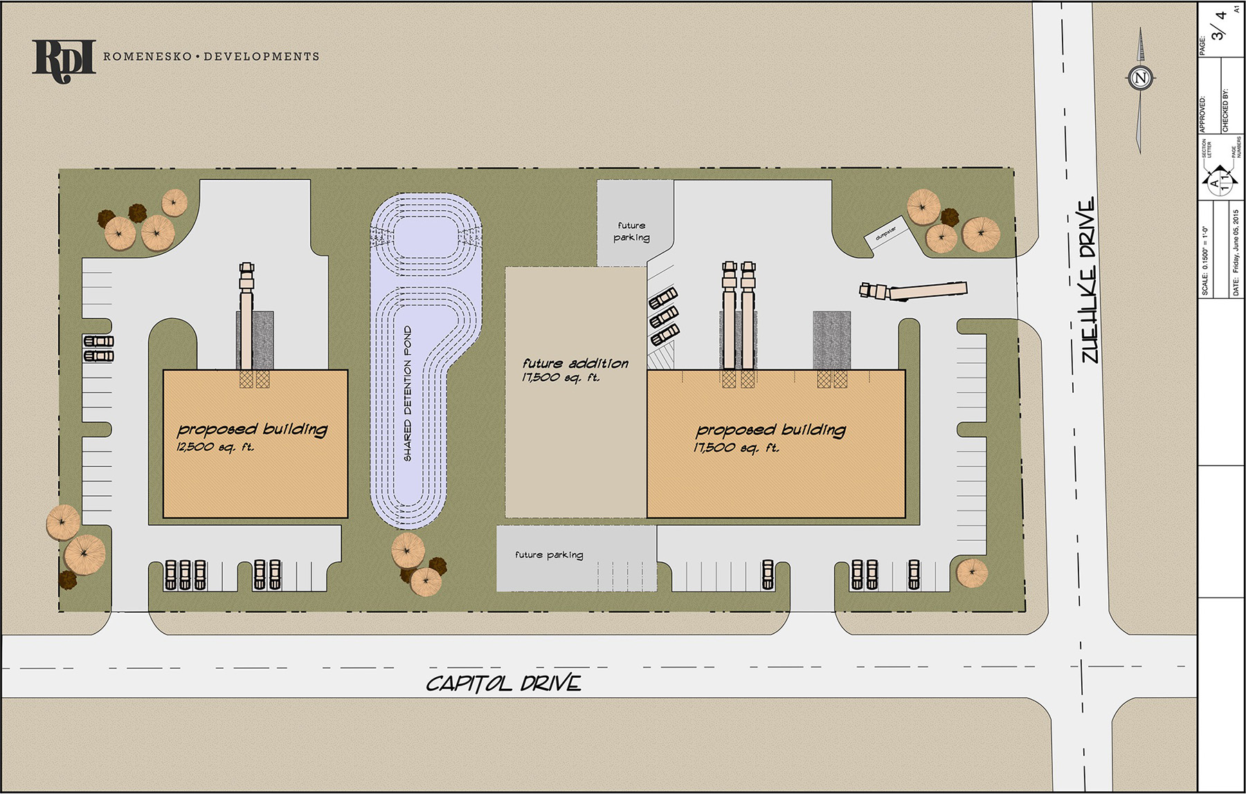 Capital Drive Proposed Site Plan