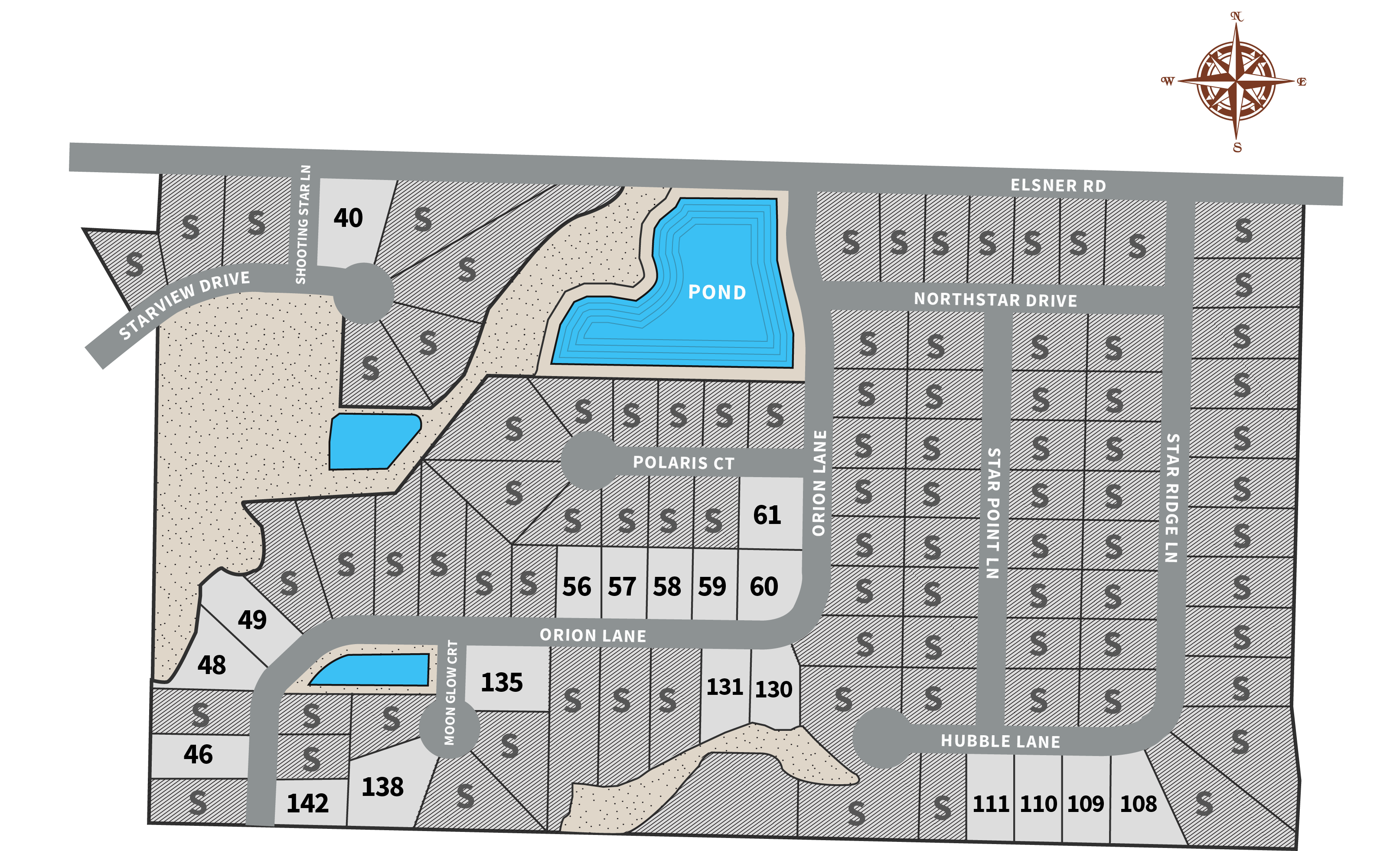 Starview Heights Available Lots Map
