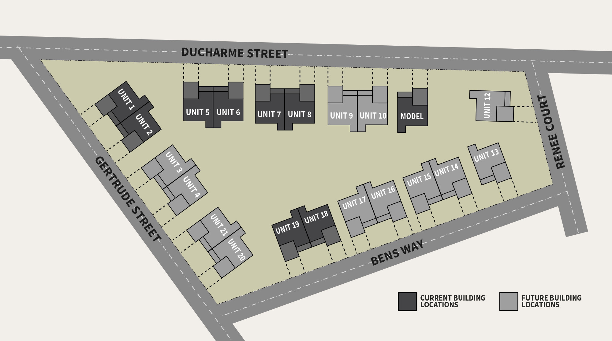 Nottingham Cottages Site Map